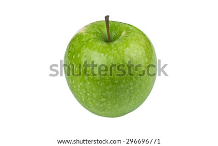 Green Granny Smith Apple isolated on white background - stock photo