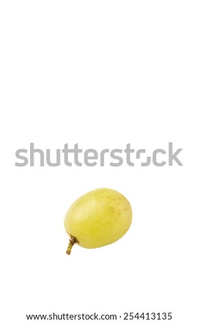 Green grapes fruit over white background