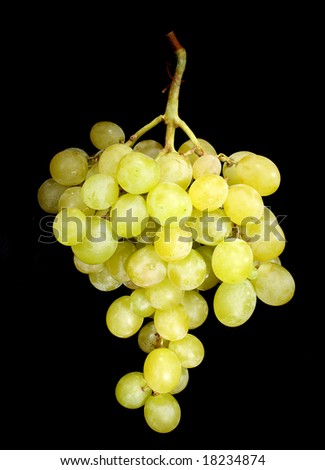 green grapes on a dark background - stock photo