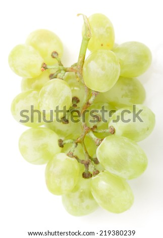 green grapes on a white background - stock photo