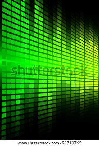Green Graphic Equalizer - stock photo