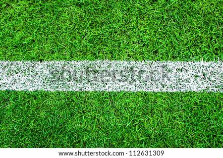 Green grass background (Soccer/Football field set) - stock photo