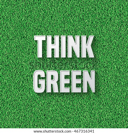 Green grass background with text message