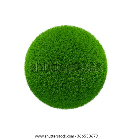 green grass globe isolated over white background