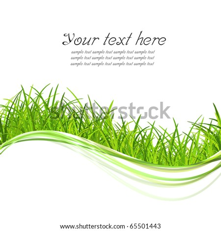 green grass illustrate with copy space - stock photo