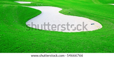 Green grass of the golf course