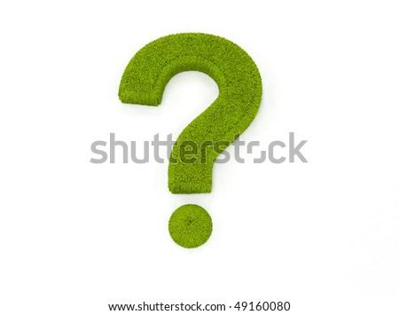 Green grass question mark - stock photo