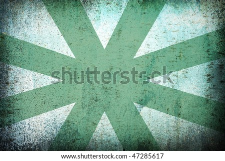 green grunge background with sun rays for multiple uses - stock photo