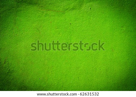 Green grunge cement wall texture - stock photo