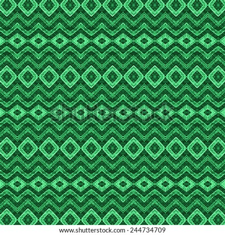 green grunge old textile pattern background  - stock photo