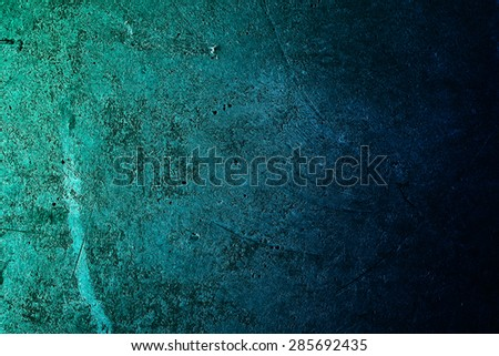 Green grunge wall. Abstract wall background. - stock photo