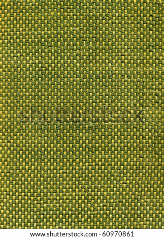 Green handwoven fabric, close up detail - stock photo