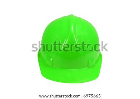 Green Hard Hat - stock photo