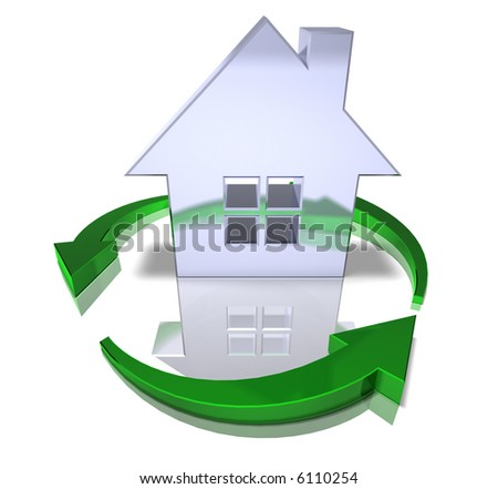 Green home - stock photo
