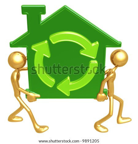 Green Home Movers - stock photo