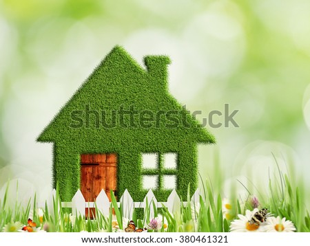 Green house, abstract eco and environmental backgrounds