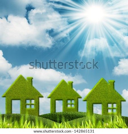 Green House. Abstract environmental backgrounds - stock photo