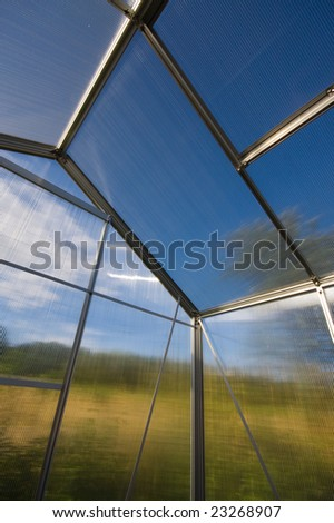 green house, environment protection - stock photo