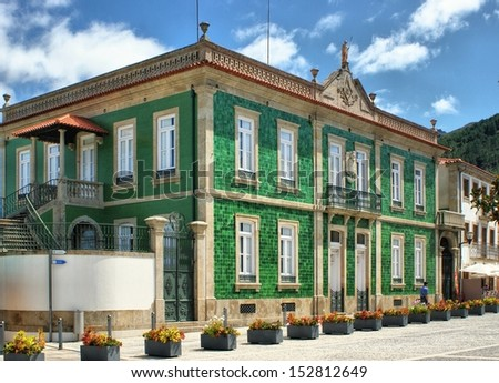 Green house in Vila Nova de Cerveira, Portugal