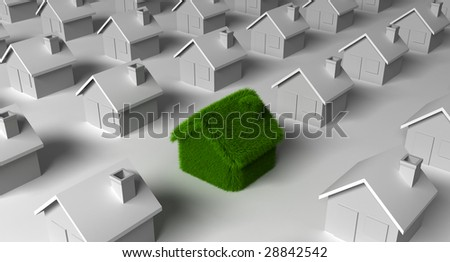 green house nature ecology architecture - stock photo