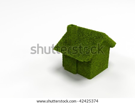 green house nature on white background