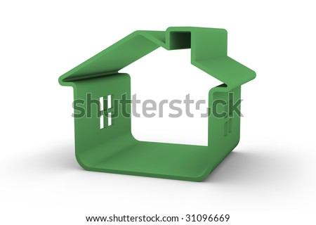 Green house that represents sustainable buildings design - stock photo