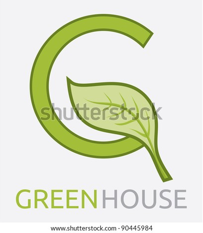 Green House. Vector format is also available in my gallery - stock photo