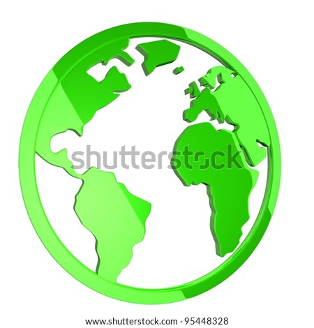 green icon of planet earth
