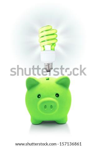 green idea for energetic saving - stock photo