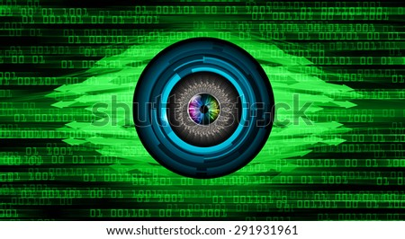 green illustration of technology internet network computer background with binary number, style background. infographics. Information. motion blur. pixel. text box. eye. arrow - stock photo