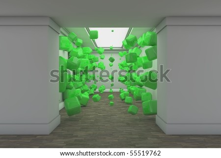 Green in the Hall - stock photo