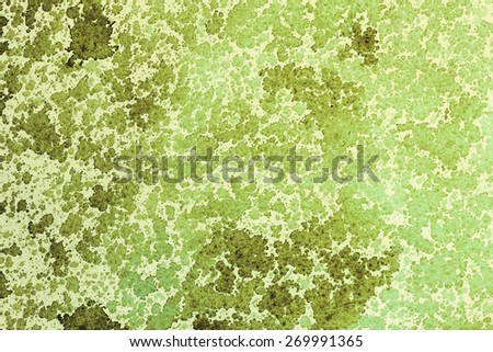 Green ink stains on white paper texture. - stock photo
