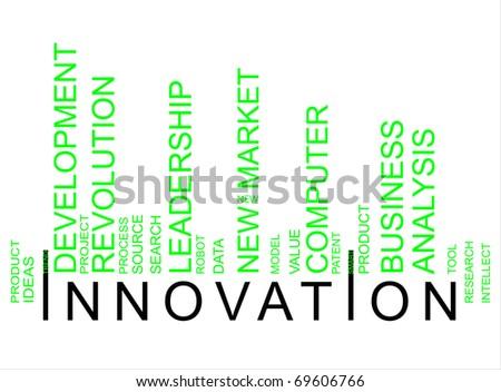 green innovation bar code - stock photo