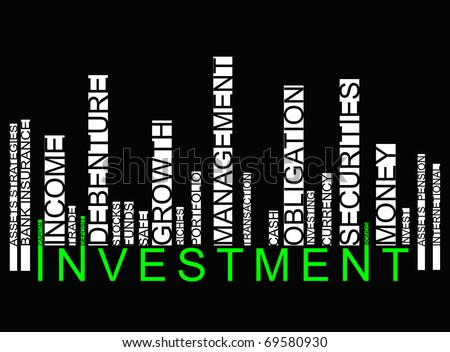 green investment bar code - stock photo