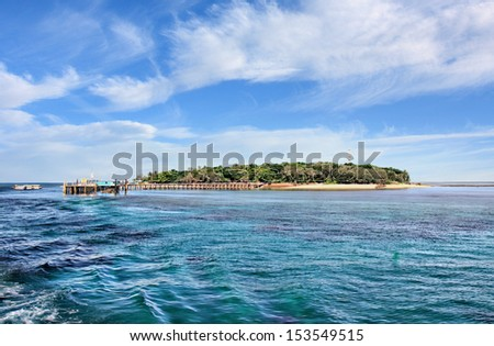 Green Island,Cairns North Queensland on sunny day - stock photo