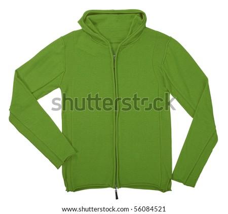 green jacket - stock photo