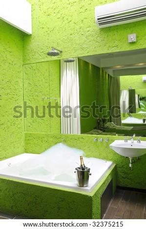 Green Jacuzzi - stock photo