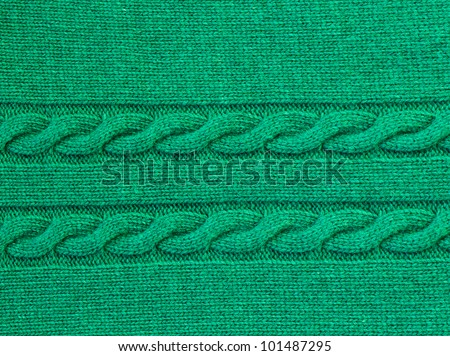 green knitted background - stock photo