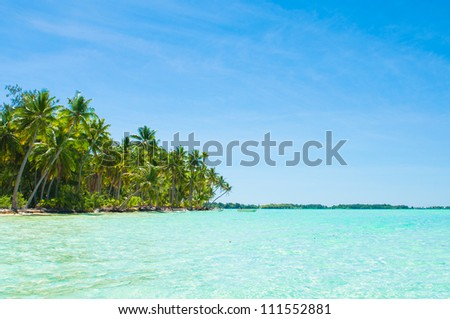 Green lagoon - stock photo