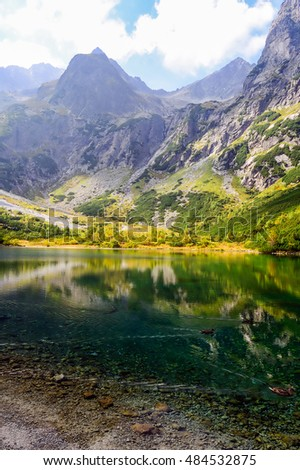 Green Lake in High Tatra Mountains, Slovakia