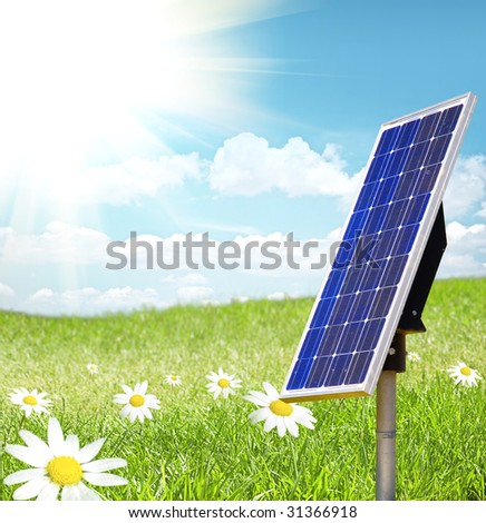 Green Landscape with solar cell