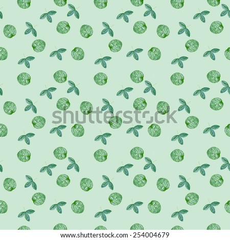 green leaf pattern | Seamless photo eco wallpaper for natural design