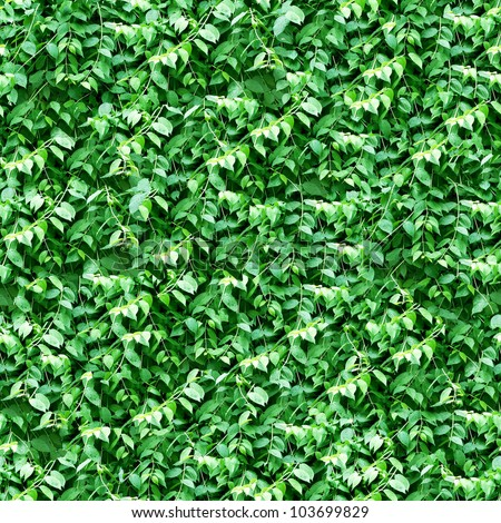 Green leafs pattern seamless background - stock photo