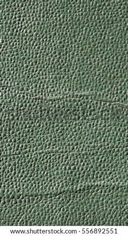 Green leatherette texture useful as a background