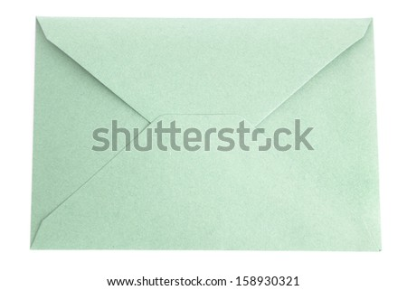 green letter on white background - stock photo