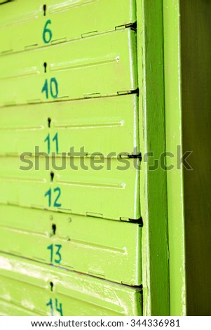 Green letterbox background