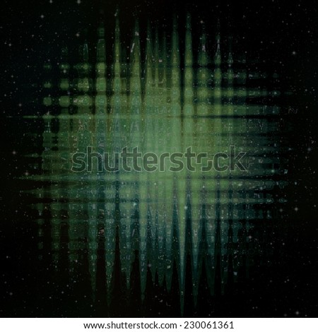 Green Light Beams With Background With Stars