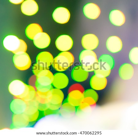 Green light circle Bokeh for christmas holidays background.