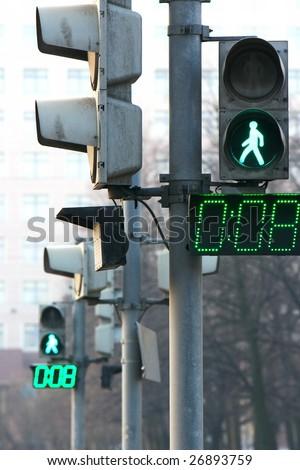 green light signal - stock photo