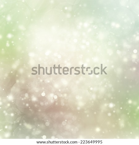 Green Lights Festive background with light beams - stock photo